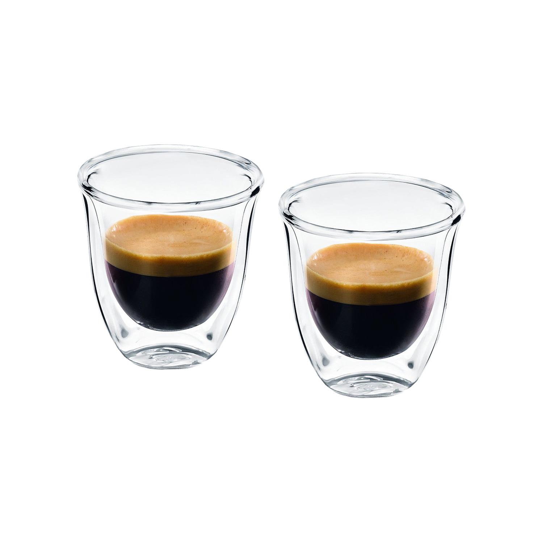 delonghi 2 espresso glastassen pro packung ebay. Black Bedroom Furniture Sets. Home Design Ideas