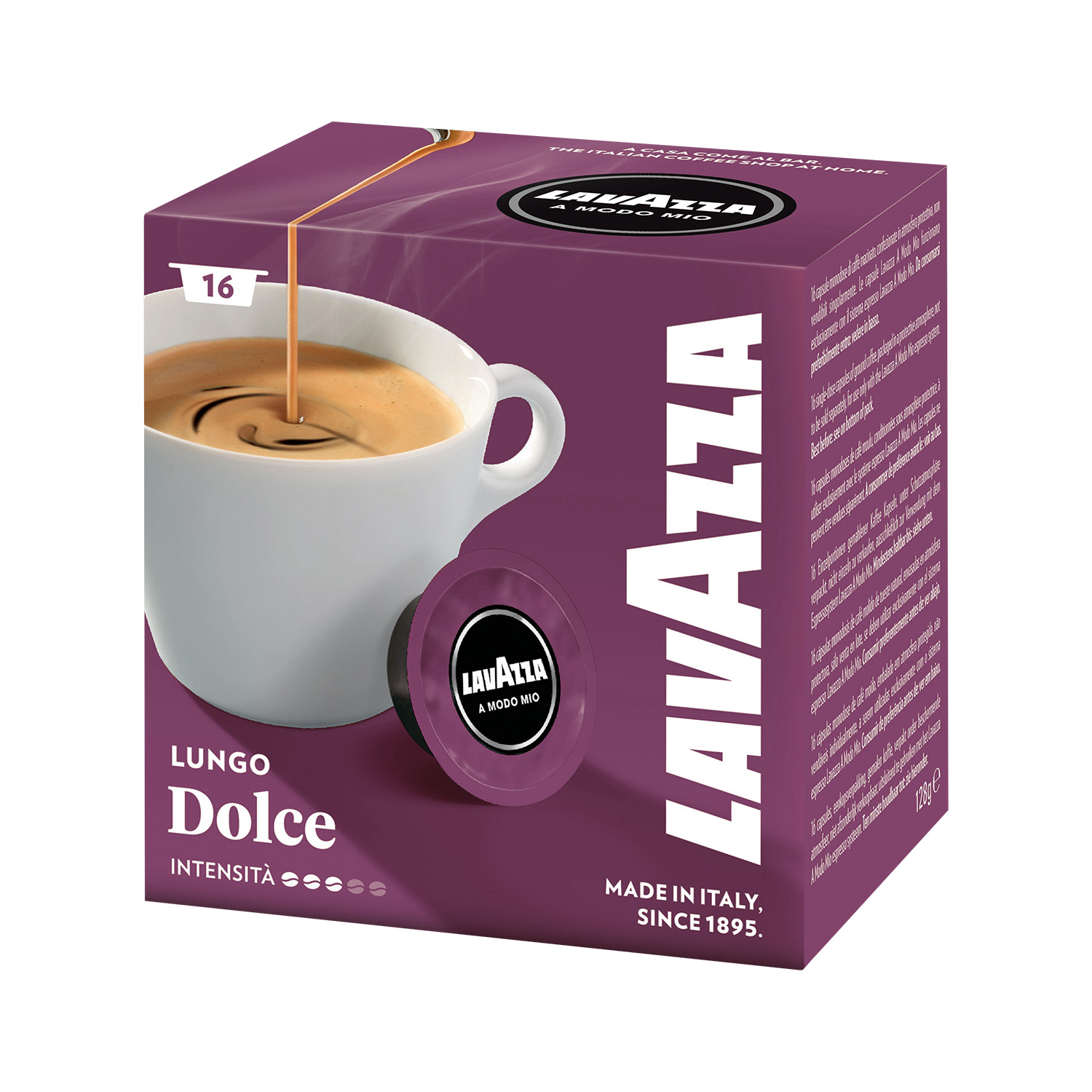 lavazza a modo mio lungo dolce 16 kapseln pro packung ebay. Black Bedroom Furniture Sets. Home Design Ideas