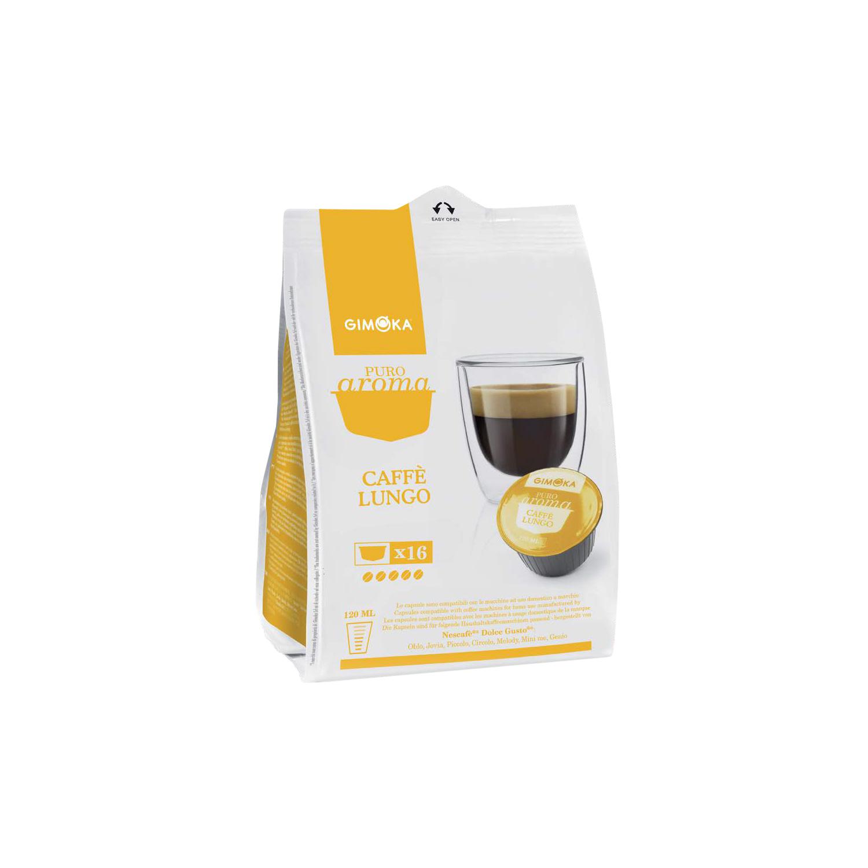 gimoka lungo puro aroma 16 caff kapseln pro packung f r. Black Bedroom Furniture Sets. Home Design Ideas