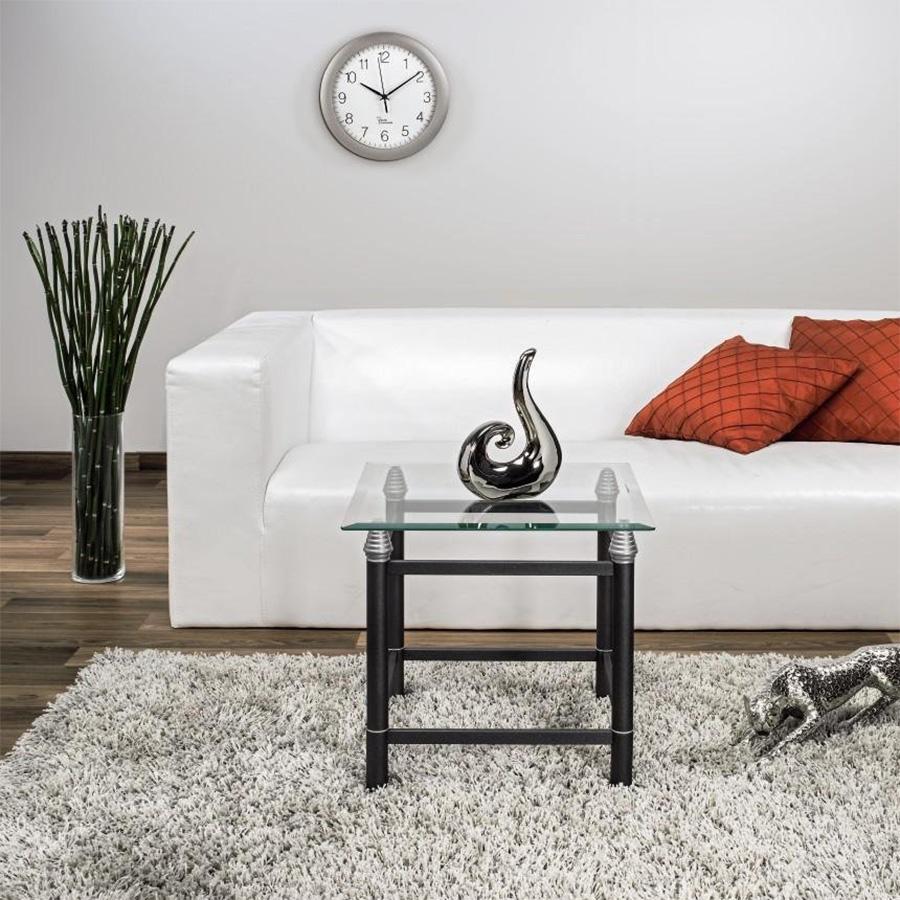 hama wand funkuhr aus kunststoff in farbe silber pg 300 ebay. Black Bedroom Furniture Sets. Home Design Ideas